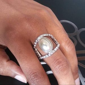 Radiating Riches White Ring